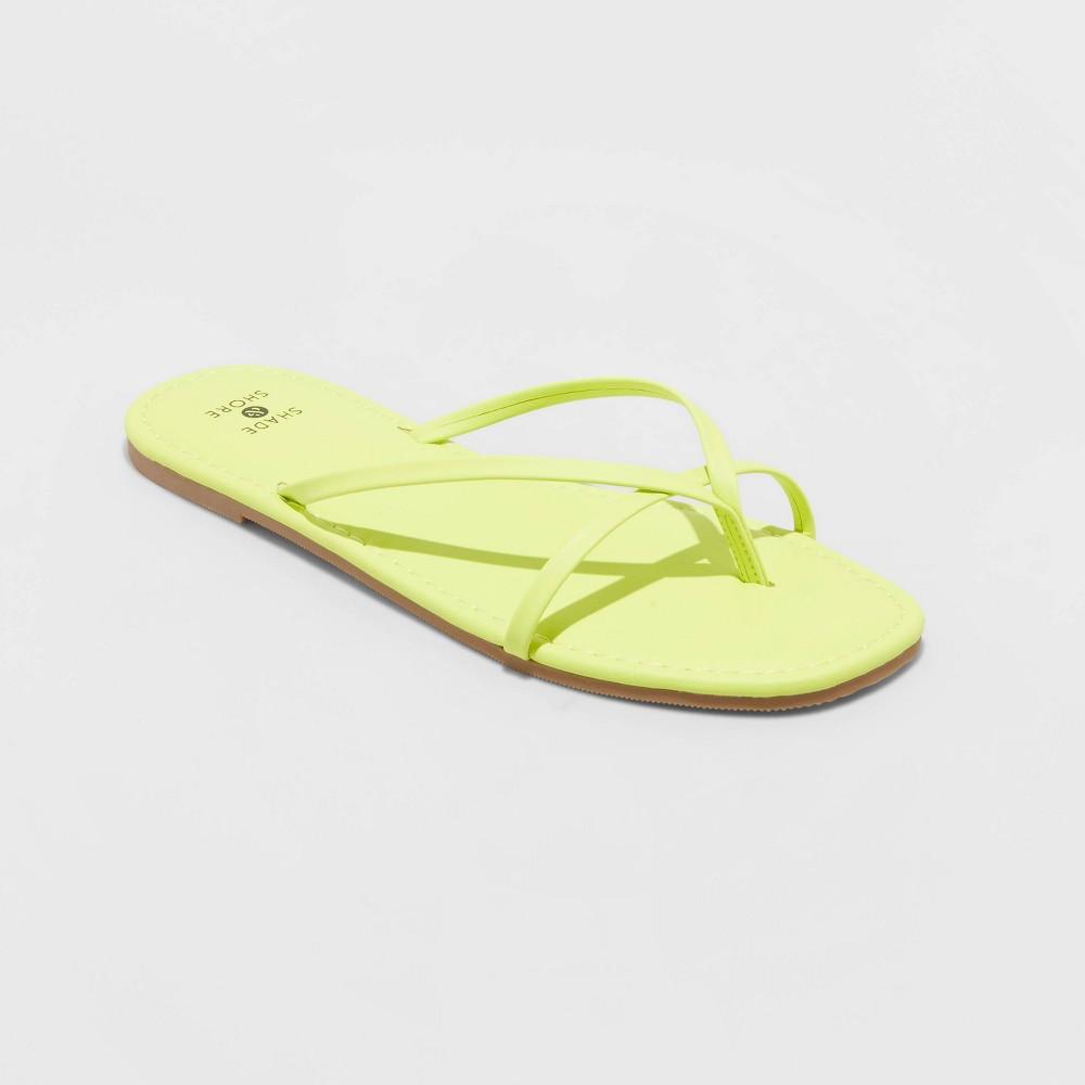 Women 39 S Mackenzie Skinny Strap Flip Flop Sandals Shade 38 Shore 8482 Lime 7