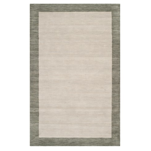 Gray Solid Loomed Area Rug 6 X9 Safavieh Target