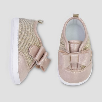 Baby Girls' Low Top Sparkle Sneaker - Just One You® made by carter's Pink 3-6M