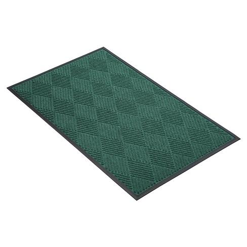 Dark Green Solid Doormat - (3'X4') - HomeTrax - image 1 of 4