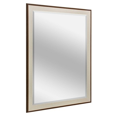 """35.5"""" x 45.5"""" Two-Toned Frame Mirror Brown/Cream - Head West"""