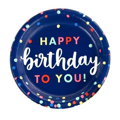 10ct Everyday Happy Birthday Dinner Paper Plates - Spritz™