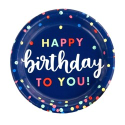 10ct Everyday Happy Birthday Dinner Plate - Spritz™