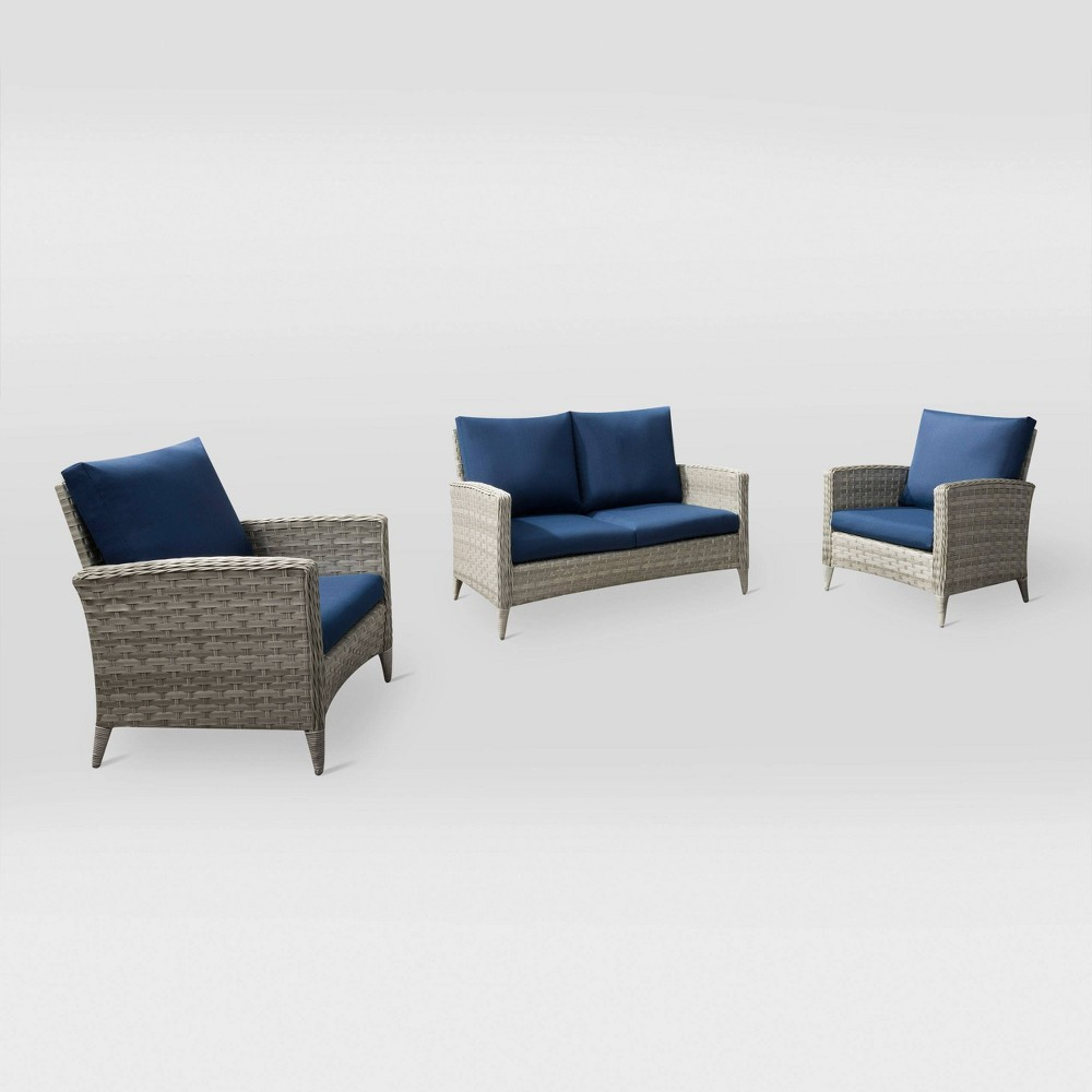 Parkview 3pc Love Seat Chair Patio Set CorLiving