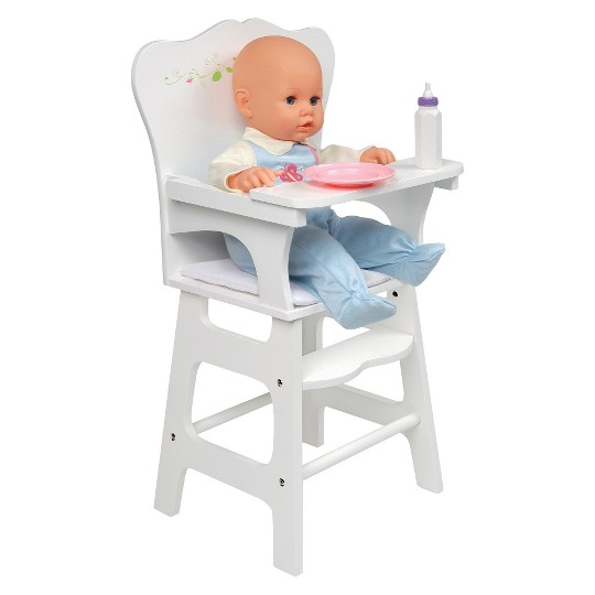 Badger Basket White Rose Doll High Chair image number null