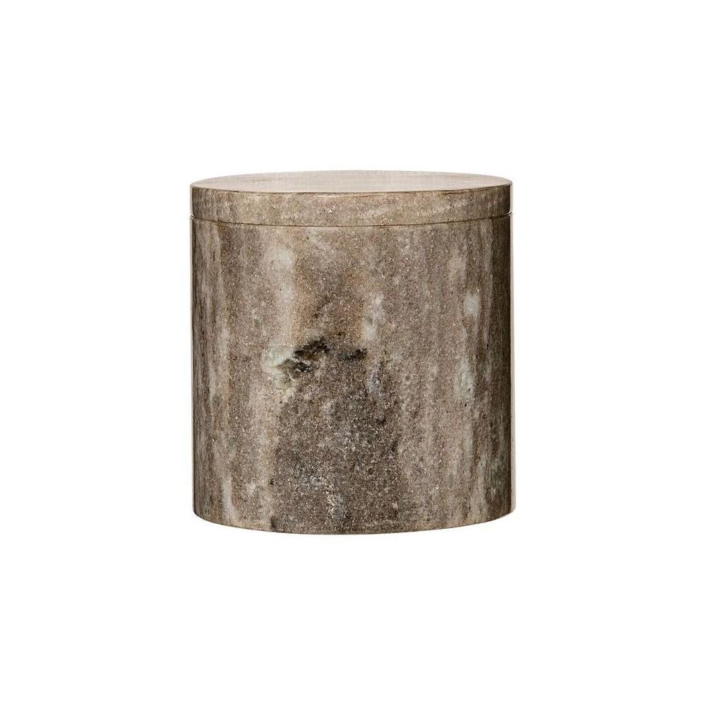 Marble Jar with Lid (5.5) - Beige - 3R Studios