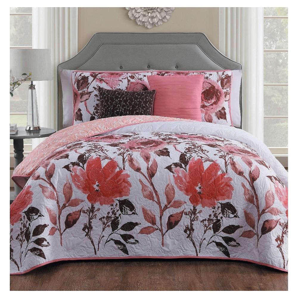 Pink Calliope Quilt Set (Queen) 5pc