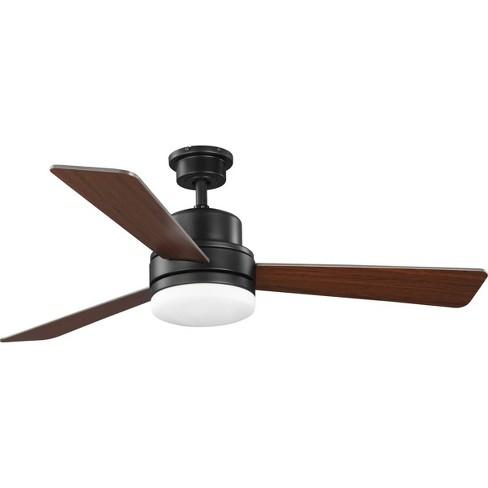 Progress Lighting Trevina Ii 52 Trevina Ii 52 3 Blade Ceiling Fan With Led Ligh Architectural Bronze Target