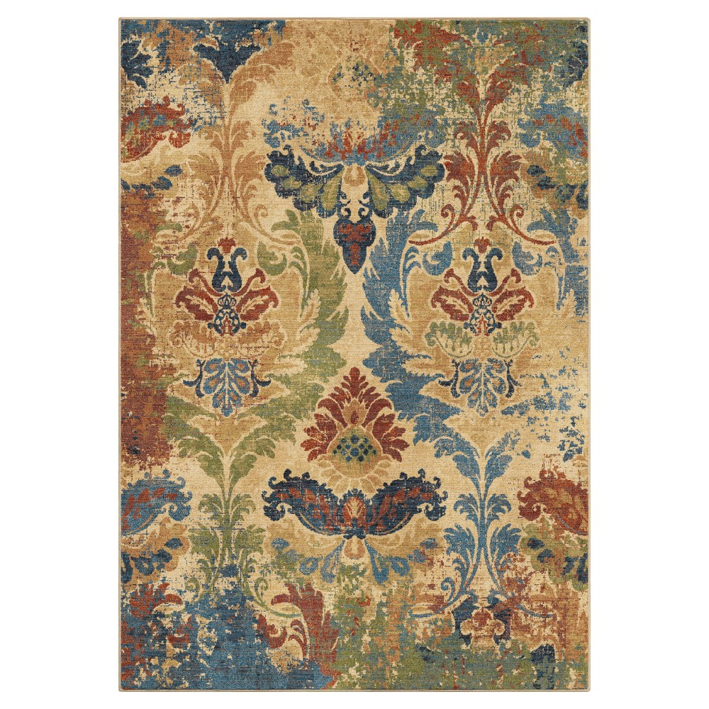 Beige Floral Woven Area Rug 710x1010 Orian