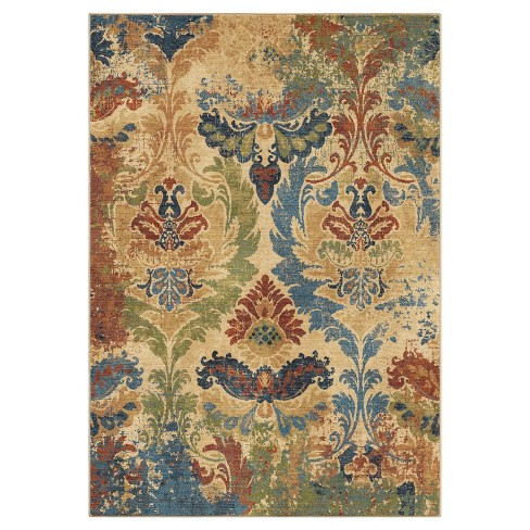 "Beige Floral Woven Area Rug 5'3""X7'6"" - Orian - image 1 of 3"