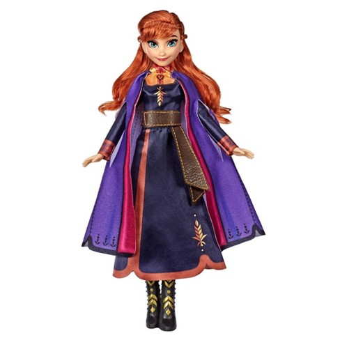 Disney Frozen 2 Singing Anna Fashion Doll with Music Wearing a Purple Dress - image 1 of 4