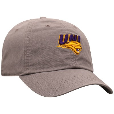 NCAA Northern Iowa Panthers Men's Gray Garment Washed Canvas Hat