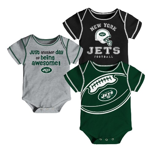 New York Jets Baby Boys' Awesome Football Fan 3pk Bodysuit Set - image 1 of 4