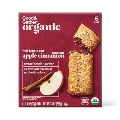 Organic Whole Grain Apple Cinnamon Fruit & Grain Bars - 6ct - Good & Gather™