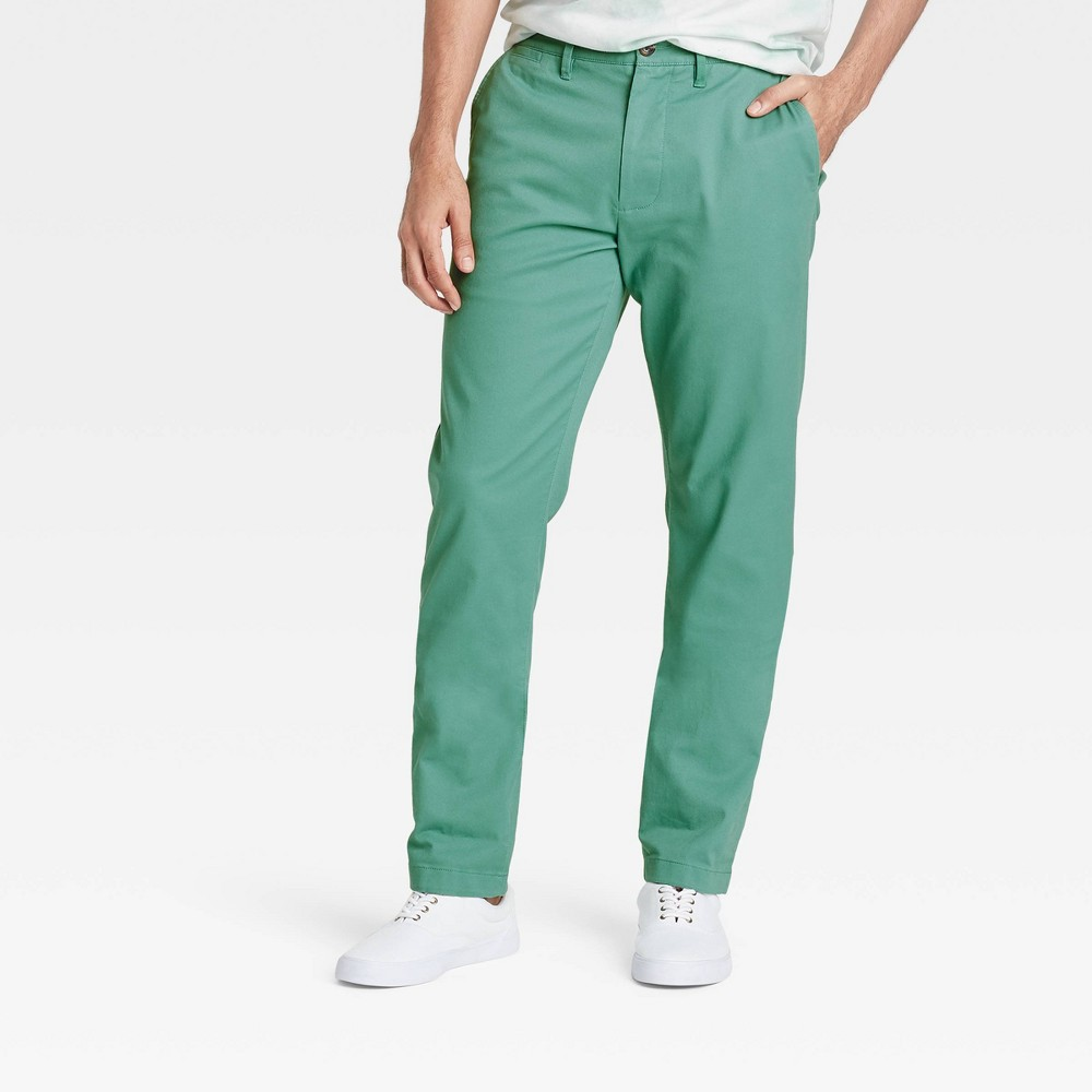Men 39 S Athletic Fit Hennepin Chino Pants Goodfellow 38 Co 8482 Dusky Green 34x30