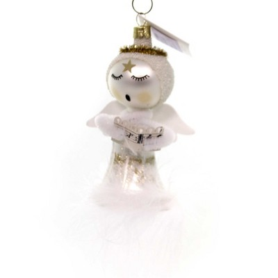 """Golden Bell Collection 5.0"""" Singing Angel Hand Painted  -  Tree Ornaments"""