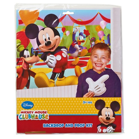 Mickey Mouse Photo Booth Backdrop And Prop Kit Archidev