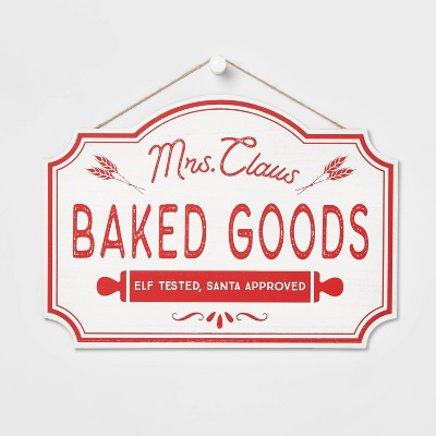 Mrs. Claus Baked Goods Decorative Sign - Wondershop™