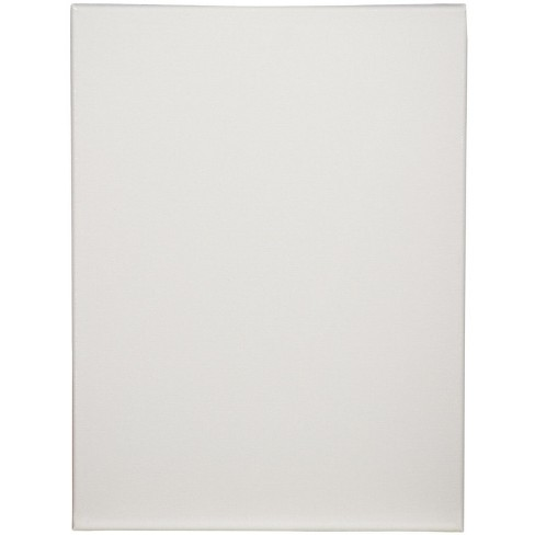 Tara Stretched Back Stapled Cotton Canvas, 16 x 20 in, White, pk of 3 - image 1 of 1