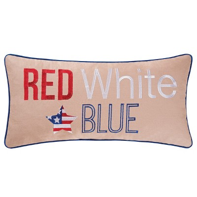 C&F Home Red, White, Blue July 4th Embroidered Pillow