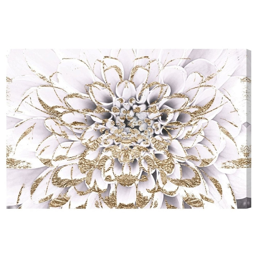 """Image of """"Oliver Gal Unframed Wall """"""""Floralia Blanc"""""""" Canvas Art (36x24)"""""""