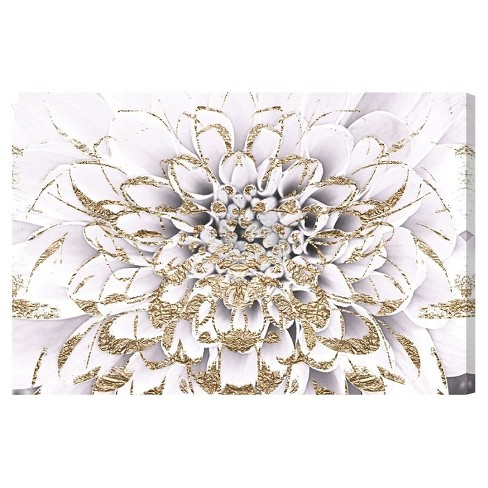 """24"""" x 36"""" Floralia Blanc Floral and Botanical Unframed Canvas Wall Art in White - Oliver Gal - image 1 of 2"""