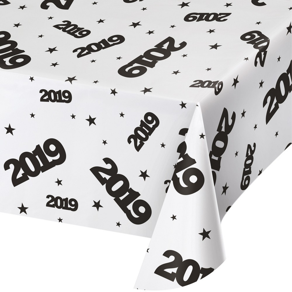 2019 New Year's Plastic Tablecloth