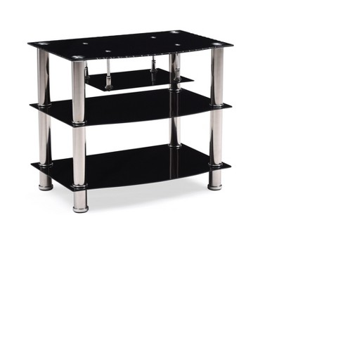 "TV Stand Black 28"" - Hodedah Import - image 1 of 4"