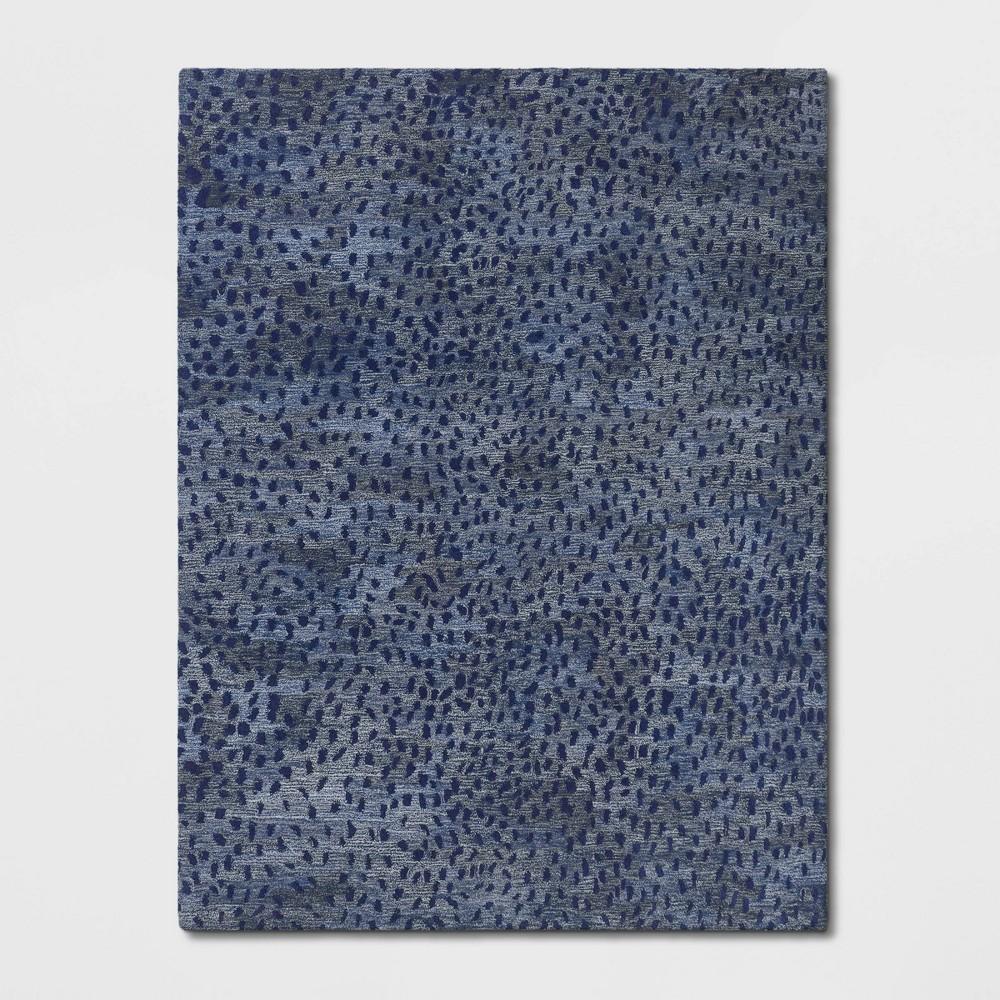 9'X12' Sibia Ombre Leopard Print Tufted Rug Blue - Opalhouse