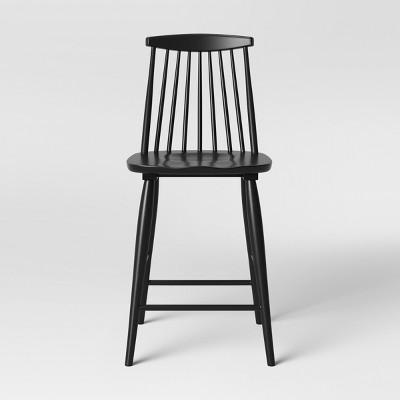 Harwich High Back Windsor Counter Height Barstool Black - Threshold™