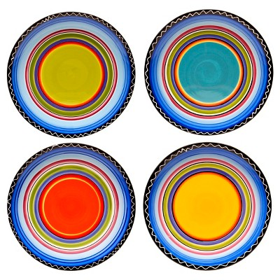 "Dinner Plate 11"" Tequila Sunrise Set of 4 - Certified International"
