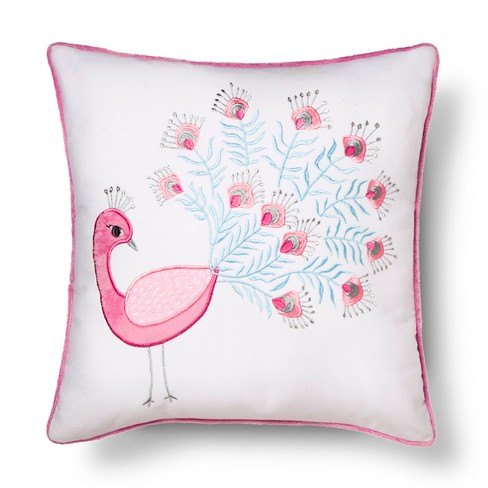 Kennedy Peacock Pillow 12x24 White - Sheringham Road - image 1 of 2