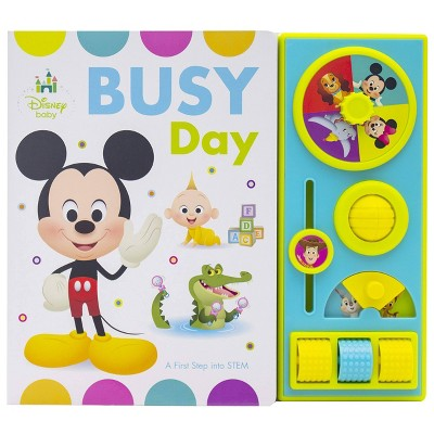 Disney Baby Mickey - Busy Day Busy Box - A First Step into STEM by Kathy Broderick (Board Book)