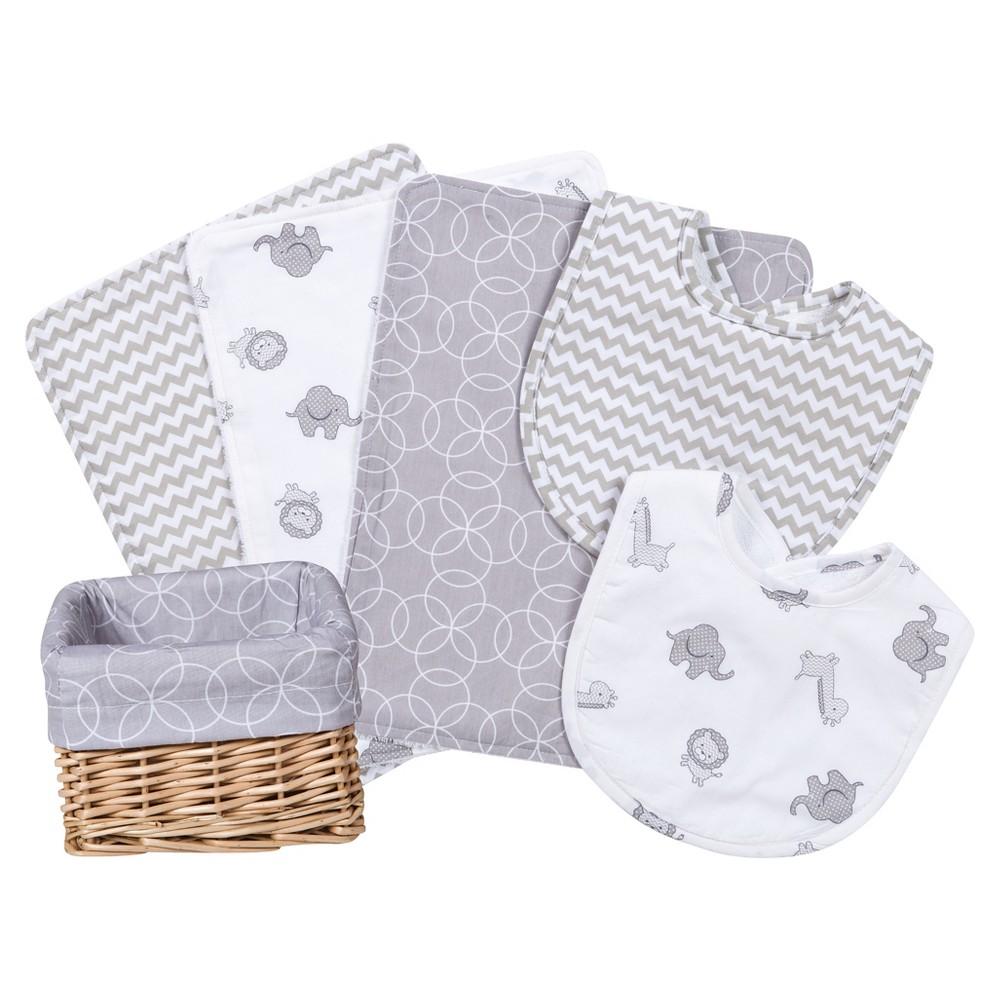 Trend Lab Bib And Burp Cloth Set Gray