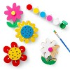 4ct Paint-Your-Own Wood Flowers Kit - Mondo Llama™ - image 4 of 4