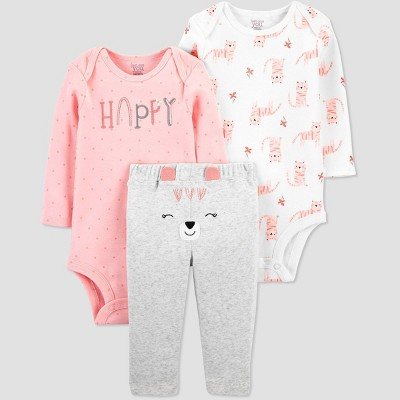 Baby Girls' 3pc Bear Top and Bottom Set - Just One You® made by carter's Pink 3M