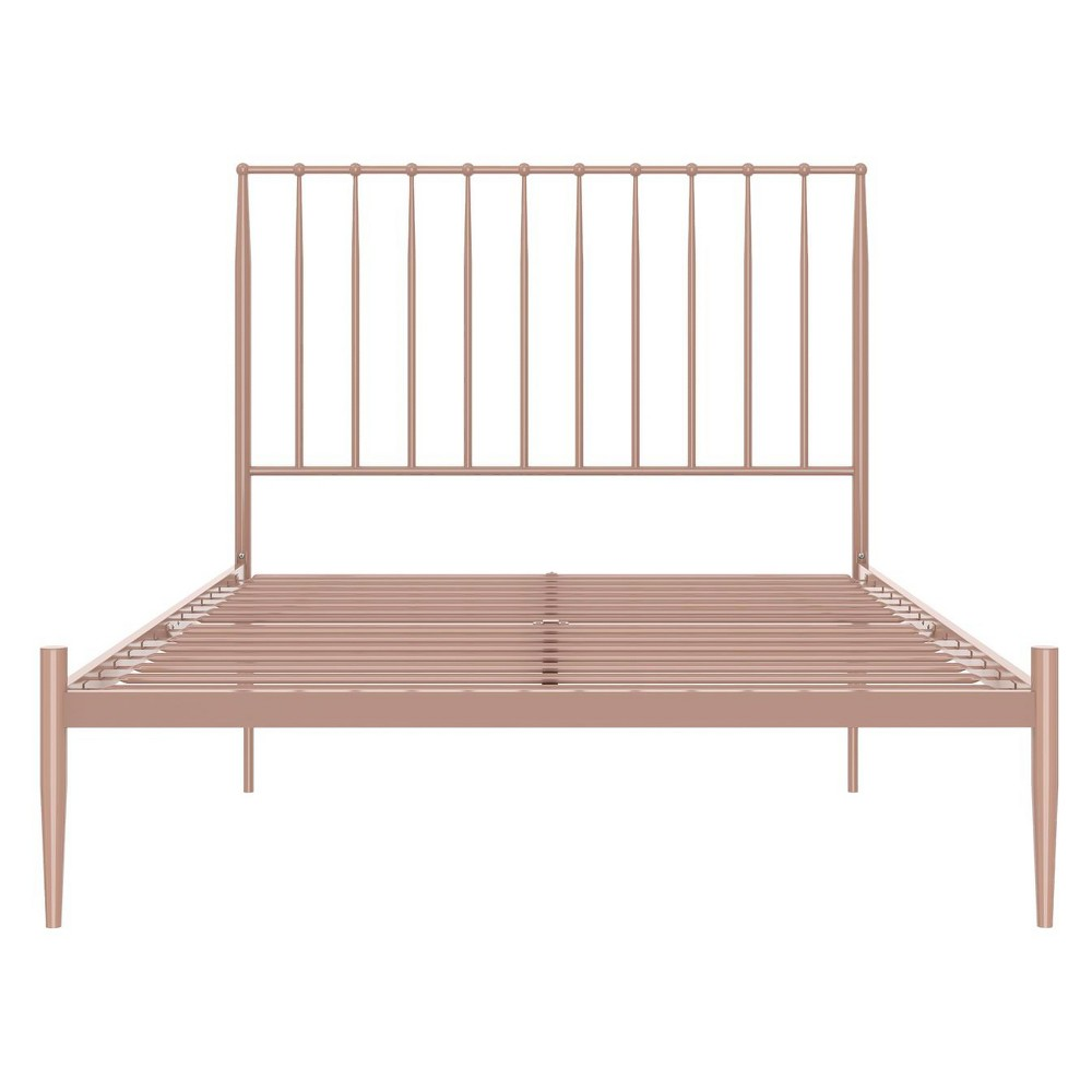 Image of Giulia Modern Metal Bed Millennial Pink Full - Ameriwood Home
