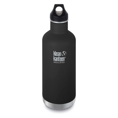 Klean Kanteen 32oz Classic Insulated Stainless Steel Water Bottle - Black