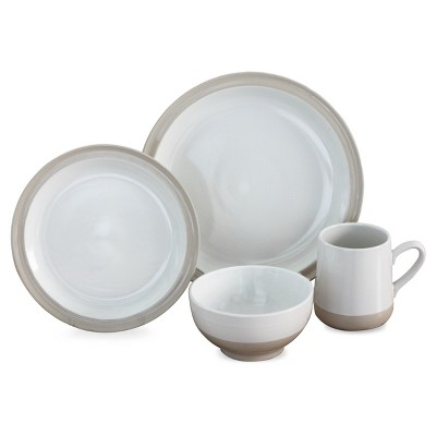 Baum Bros.® Grayden 16pc Dinnerware Set White