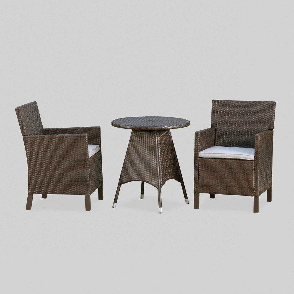 Amazing Cypress 3Pc Wicker Patio Dining Set Brown Christopher Knight Camellatalisay Diy Chair Ideas Camellatalisaycom