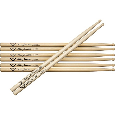 Vater Buy 3 Pair Mike Johnston 2451 Hickory Sticks Get 1 Maple Pair Free - image 1 of 3