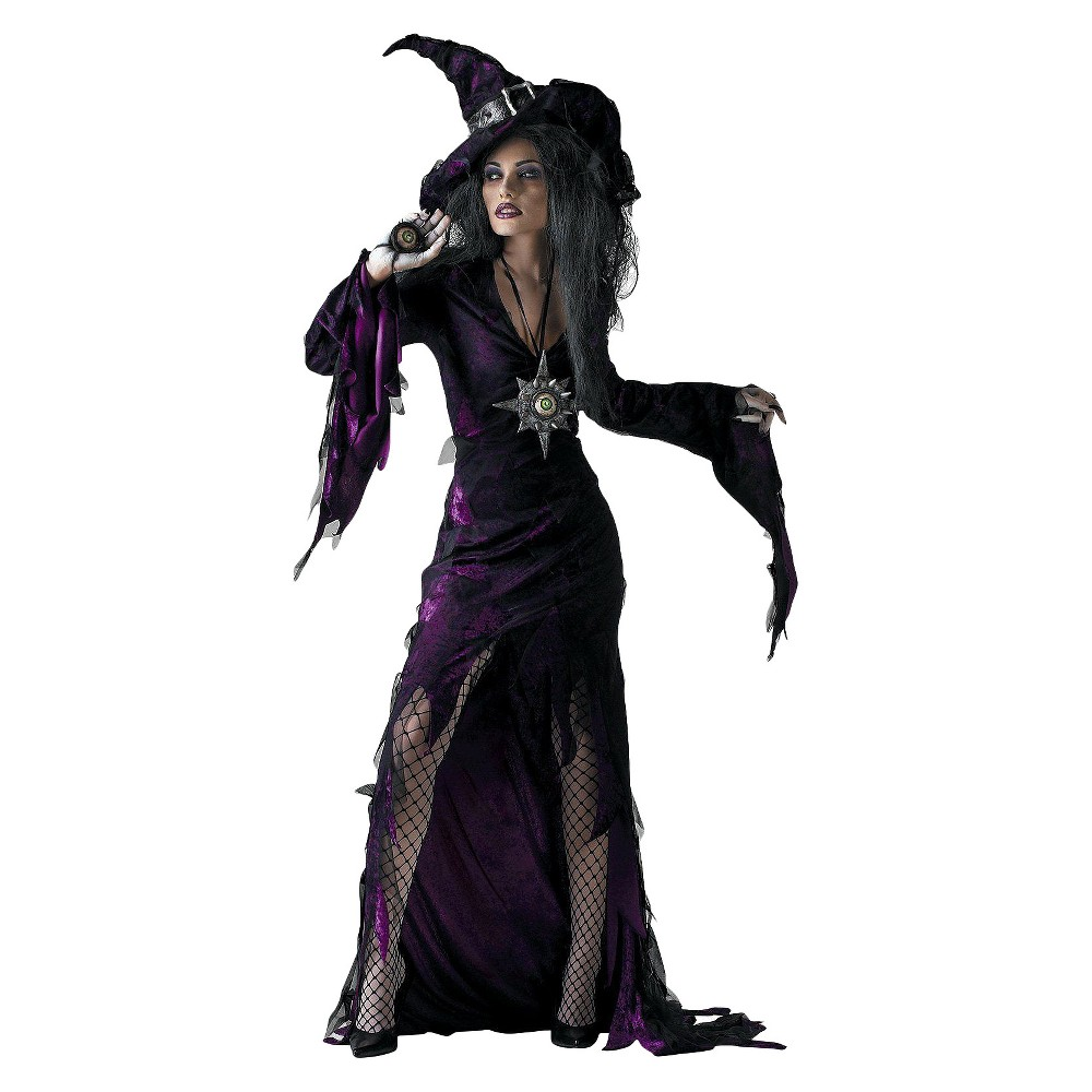 Women's Sorceress Adult Costume - M(7-9), Black