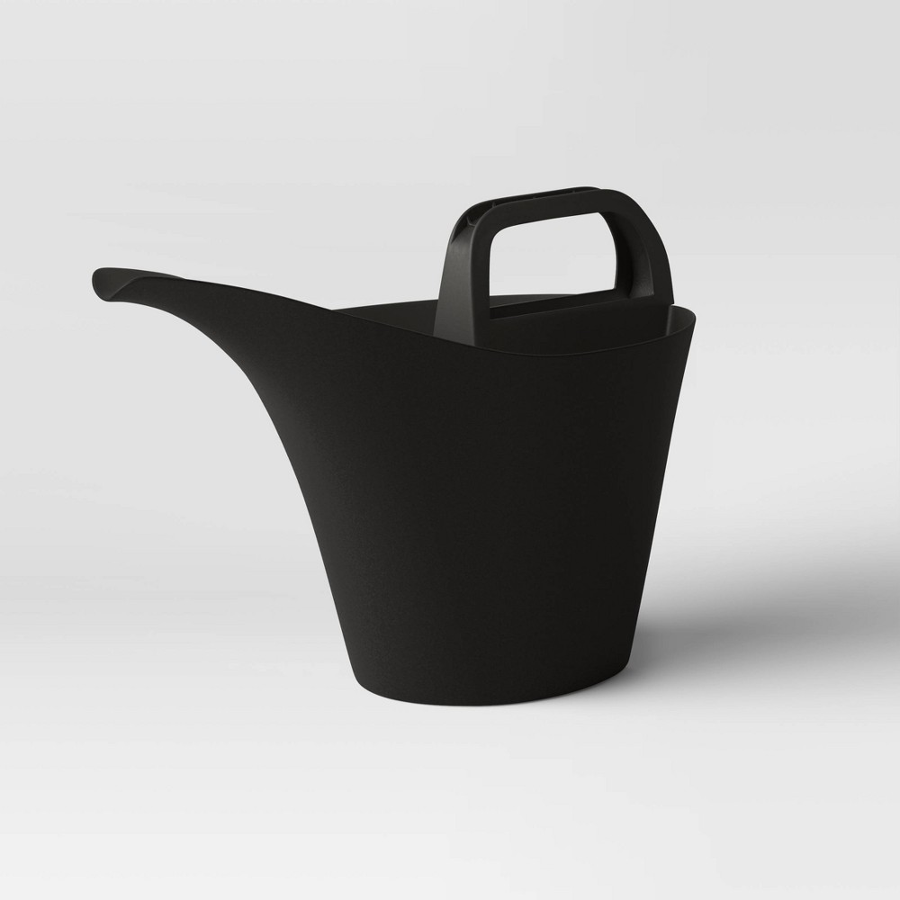 Image of 0.8gal Watering Can Black - Room Essentials