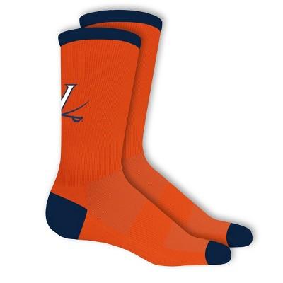NCAA Virginia Cavaliers Big Game Crew Socks 10-13
