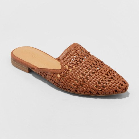 Women's Whisper Woven Backless Slip On Mules Mules - Universal Thread™ - image 1 of 4