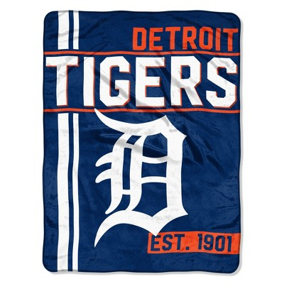 MLB Detroit Tigers Micro Fleece Throw Blanket