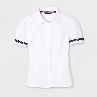 French Toast Girls' Uniform Short Sleeve Blouse - White