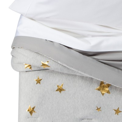 Jersey Stars Comforter (Toddler)Gray & Gold - Pillowfort™