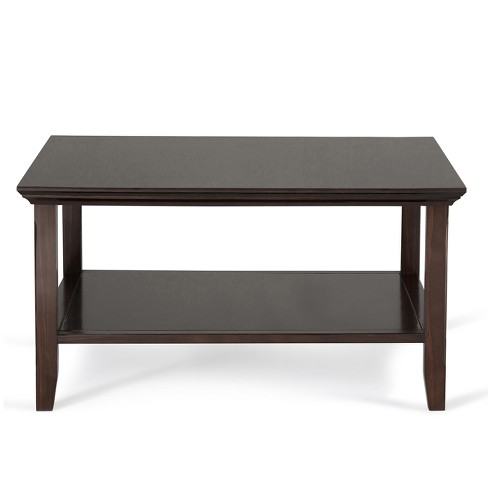 Normandy Solid Wood Square Coffee Table Tobacco Brown Wyndenhall