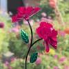 "38.75"" Metal Double Spinning Rose Garden Stake Pink - Exhart - image 2 of 2"